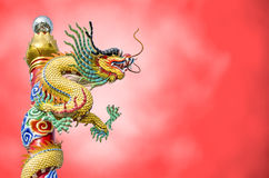 Chinese dragon on the ploe Royalty Free Stock Photos