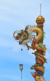 The Chinese dragon pole. In Thailand Royalty Free Stock Image