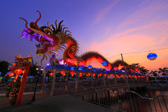 Chinese Dragon. In purblic park Chonburi privince Thailand royalty free stock image