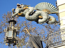 Chinese Dragon in the Ramblas, Barcelona Stock Images
