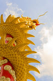 Chinese Dragon is reaching the sky Stock Images