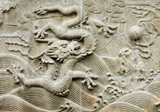 Chinese dragon's relief Royalty Free Stock Photos