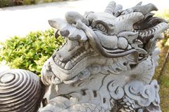 Chinese dragon. Sculpture of a chinese dragon stock photo