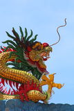 Chinese Dragon Sculpture Stockfoto