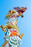 Chinese Dragon Sculpture Lizenzfreies Stockbild