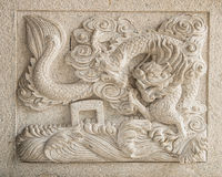 Chinese dragon sculpture Stock Image