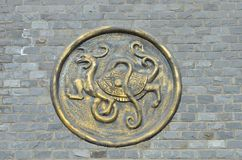 Chinese dragon sculpture Royalty Free Stock Photos