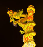 Chinese Dragon Sculpture at Chinese Temple Royalty Free Stock Images