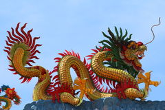 Chinese dragon sculpture Stock Photography
