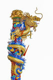 Chinese dragon sculpture  on white background Royalty Free Stock Photography