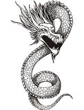 Chinese dragon serpent Royalty Free Stock Images