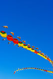 Chinese dragon-shaped kites flying Royalty Free Stock Photography