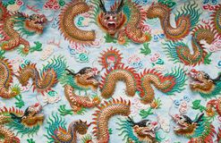 Chinese dragon in shrine Royalty Free Stock Photos