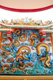 Chinese dragon in shrine Stock Photography