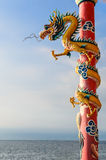 Chinese dragon in the shrine Royalty Free Stock Images