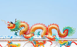 Chinese dragon on the sky Stock Images