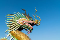 Chinese Dragon with sky royalty free stock photos