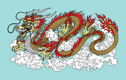Chinese dragon in the sky Stock Photos