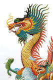 Chinese dragon statue. On white background Stock Photos