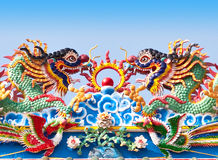 Chinese dragon statue. Stock Images