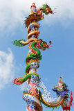 Chinese dragon statue Stock Photo
