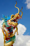 Chinese dragon statue. On the blue sky Royalty Free Stock Photo
