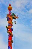 Chinese dragon statue. With blue sky stock photos