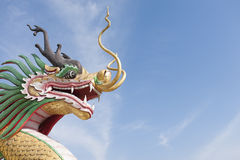 Chinese Dragon Statue. Head shot Stock Photography