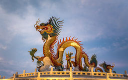 Chinese Dragon statue, Nakornsawan Park, Thailand. Stock Images
