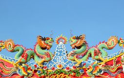 Chinese dragon statue Royalty Free Stock Photo