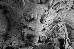 Chinese dragon statue in temple Royalty Free Stock Image