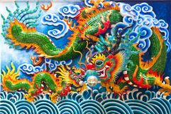 Chinese dragon stature Royalty Free Stock Photography