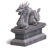Chinese dragon stone statue Stock Images