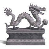 Chinese dragon stone statue Stock Photo