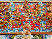 Chinese Dragon Stucco Royalty Free Stock Photos