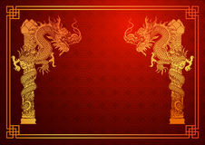 Chinese dragon template Royalty Free Stock Image