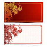 Chinese dragon template Stock Photos