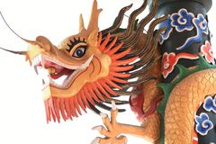 Chinese Dragon. On chinese temple stock photos