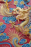 Chinese Dragon in Temple. Royalty Free Stock Photo