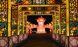 Chinese Dragon theme Park night view Royalty Free Stock Image