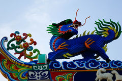 Chinese dragon. There are several different kinds of dragon according to color, which may be yellow, blue, black, white or red. Of these the most highly revered Royalty Free Stock Photo