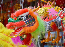 Chinese dragon toy. Hanging toy in shape of a traditional Chinese dragon royalty free stock images
