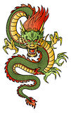 Chinese Dragon. Traditional Asian Dragon. This is vector illustration ideal for a mascot and tattoo or T-shirt graphic Royalty Free Stock Photo