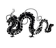 Chinese dragon. Vector illustration of chinese dragon Royalty Free Stock Images