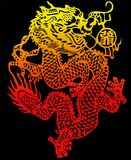Chinese dragon vector & jpeg royalty free illustration