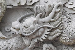 Chinese dragon wall Stock Image