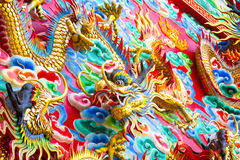 Chinese Dragon at the wall Stock Photography