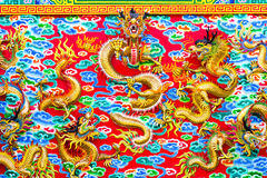 Chinese Dragon at the wall Royalty Free Stock Photography