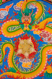 Chinese dragon wall paintings Stock Image