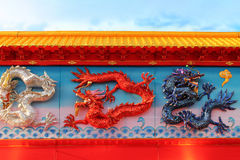 Chinese Dragon Wall royalty free stock images